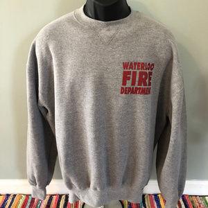 Vintage Shirts - 80s Waterloo Fire Department Sweatshirt Seneca